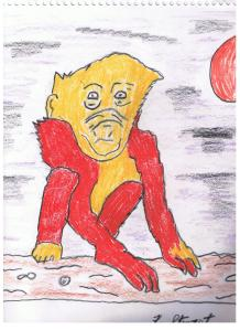 alien monkey color